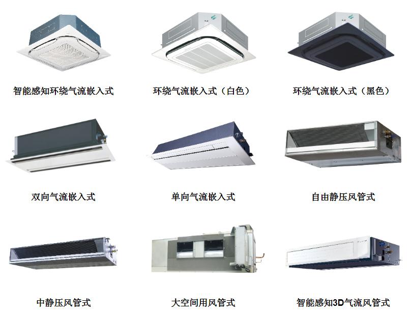 大金中央空调室内机产品