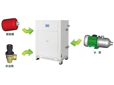 格力MS系列套管式水源热泵涡旋机组-自带膨胀罐、水泵
